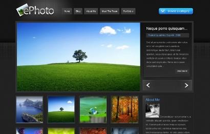 طراحی سایت گالری عکس.