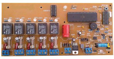 کنترل کننده چهارکاناله با خط تلفن جهت خاموش و روشن کردن وسایل برقی