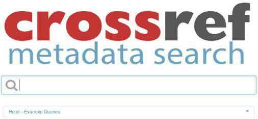 crossref-metadata-search